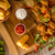 куриные · попкорн · домашний · картофеля · майонез · острый · соус - Сток-фото © Peteer