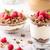 cheesecake · verre · jar · framboises · herbes · alimentaire - photo stock © Peteer