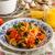 makarna · zeytin · domates · fesleğen · taze · portakal · suyu - stok fotoğraf © Peteer