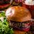 bacon · cheeseburger · suculento · topo · ver · papel - foto stock © peteer