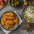 salade · gegrilde · kip · heerlijk · eenvoudige · recept · schimmelkaas - stockfoto © peteer