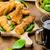 mısır · tavuk · ıspanak · tost · hardal - stok fotoğraf © Peteer