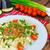 spagetti · makarna · şarap · domates · et · sos - stok fotoğraf © peteer