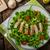 saludable · pollo · a · la · parrilla · ensalada · cesar · queso · mesa · de · madera · hoja - foto stock © peteer