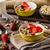 oatmeal with yogurt fresh strawberrie and nuts stock photo © peteer