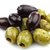 bunch of black and seasoned green olives stock photo © peter_zijlstra