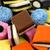 красочный · конфеты · текстуры · фон · белый · кокосового - Сток-фото © peter_zijlstra