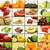 rojo · frutas · collage · frutas · hortalizas · alimentos · saludables - foto stock © peter_zijlstra