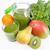 smoothie · verde · bandeja · kiwi · madeira · saúde · verde - foto stock © peterhermesfurian