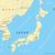 север · Южная · Корея · политический · карта · Сеул · полуостров - Сток-фото © peterhermesfurian