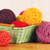 different yarn balls in wooden basket stock photo © petrmalyshev