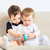 iki · küçük · erkek · oturma · aile · yüz - stok fotoğraf © petrmalyshev