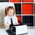 vintage · direttore · segretario · lavoro · ufficio · femminile - foto d'archivio © petrmalyshev
