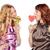 two women with lollipop stock photo © petrmalyshev