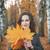 genç · kadın · ağaç · yaprakları · eller · gülen - stok fotoğraf © Phantom1311