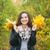 若い女性 · ツリー · 葉 · 手 · 笑みを浮かべて - ストックフォト © Phantom1311