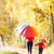 kislány · esernyő · őszi · sikátor · lány · gyermek - stock fotó © phbcz