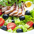 légumes · salade · frit · canard · sein · tranches - photo stock © phbcz