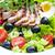 zöldség · saláta · sült · kacsa · mell · szeletek - stock fotó © phbcz