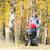 kadın · sonbahar · geçit · ağaçlar · yürüyüş · sonbahar - stok fotoğraf © phbcz