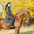 lovas · lóháton · őszi · természet · nők · ló - stock fotó © phbcz