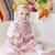 pluche · roze · bloemen · hand · handdoek · schoonheid - stockfoto © phbcz