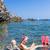 snorkeling · morze · Śródziemne · morza · Francja · kobieta · lata - zdjęcia stock © phbcz