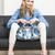 vrouw · zomerschoenen · handtas · vergadering · sofa - stockfoto © phbcz