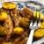 carne · de · porco · batatas · suculento · brinde · frito · salada - foto stock © phbcz