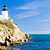 bass harbor lighthouse maine usa stock photo © phbcz
