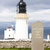 dunnet head lighthouse with orkney in the background highlands stock photo © phbcz