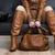 részlet · ül · nő · barna · ruházat · tart - stock fotó © phbcz
