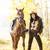 lovas · ló · őszi · természet · nők · ősz - stock fotó © phbcz