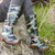 detail of woman wearing rubber boots in spring nature stock photo © phbcz