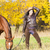 lovas · ló · őszi · természet · nő · nők - stock fotó © phbcz