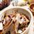 sült · szalonna · körte · mazsola · brandy · hús - stock fotó © phbcz