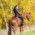 lovas · lóháton · őszi · természet · nő · nők - stock fotó © phbcz