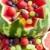 aardbei · salade · cottage · cheese · frans · slasaus · blad - stockfoto © phbcz