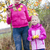 mother and her daughter with autumnal apple tree holding an apples stock fotó © phbcz
