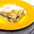 espinacas · lasaña · salmón · alimentos · queso · tenedor - foto stock © phbcz
