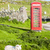 telephone booth with sheep clashnessie highlands scotland stock photo © phbcz
