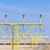 landingsbaan · lichten · luchthaven · groot · blauwe · hemel · wolken - stockfoto © phbcz