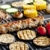 carne · legumes · elétrico · grelha · milho - foto stock © phbcz