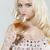 jonge · vrouw · wijn · glas · portret · drinken - stockfoto © phbcz