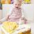 сидят · девушки · именинный · торт · продовольствие · ребенка - Сток-фото © phbcz