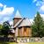 wooden church kaszubski ethnographic park in wdzydzki park kraj stock photo © phbcz
