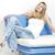 vrouw · vergadering · sofa · jeans · zomerschoenen - stockfoto © phbcz