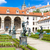 valdstejnska garden and prague castle prague czech republic stock photo © phbcz
