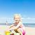 petite · fille · jouer · plage · mer · fille · enfant - photo stock © phbcz
