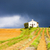 kápolna · levendula · mező · fennsík · virág · épület · mező - stock fotó © phbcz